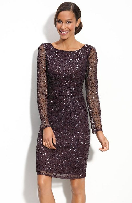 1. Sparkly Mother of the Bride Dress…    Photo Credit I love how this sparkly mother of the bride dress looks sexy yet classy. There isn't too much skin showing but with the sheer …