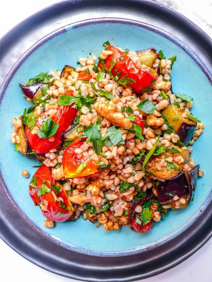 Bulgur salad with roast tomato & aubergine – A kit…