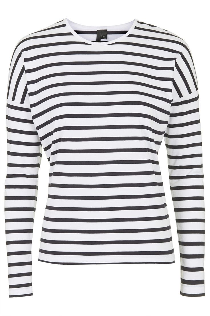 Striped Long Sleeve Cotton Top by Boutique