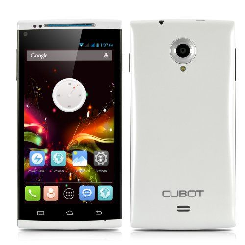 Cubot X6 Octa-Core Phone - Android 4.2 OS, 5 Inch 1280x720 Capacitive IPS OGS Screen, MTK6592 1.7GHz CPU, 16GB ROM (White)