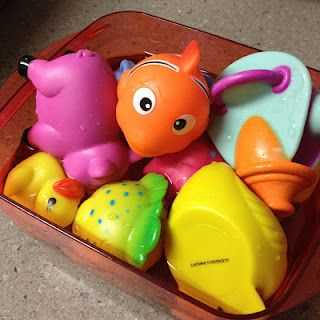 How to get mold out of kids bath toys: soak in pure white vinegar, leave for at least 1 hour, rinse well.