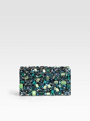 Prada Raso Stones Box Clutch