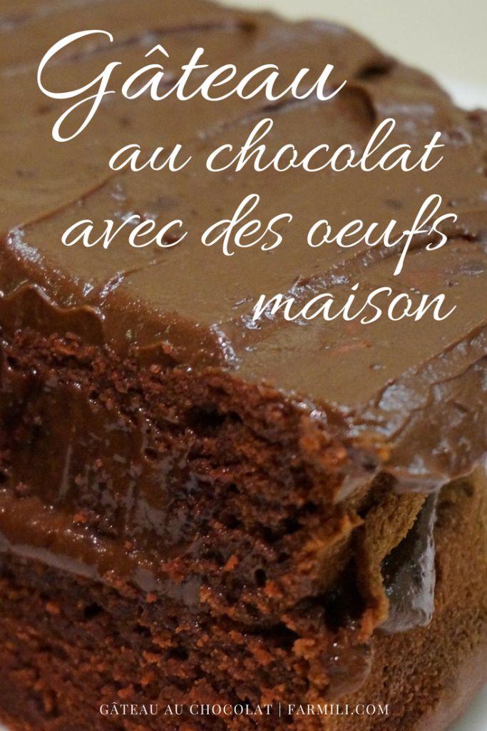 #gâteau #chocolat #oeufs #maison