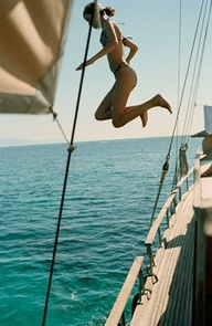 A day jumping in the water.....
