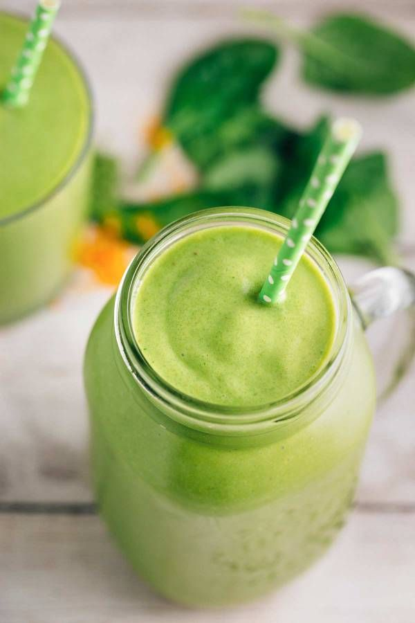 Turmeric Green Tea Smoothie | via veggiechick.com #vegan #glutenfree
