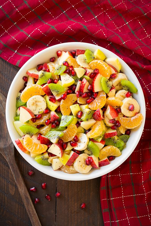 Winter Fruit Salad with Lemon Poppy Seed Dressing  - Most people think that fruit salads are for the summertime. Not this one - serve as a side dish at the next family dinner.