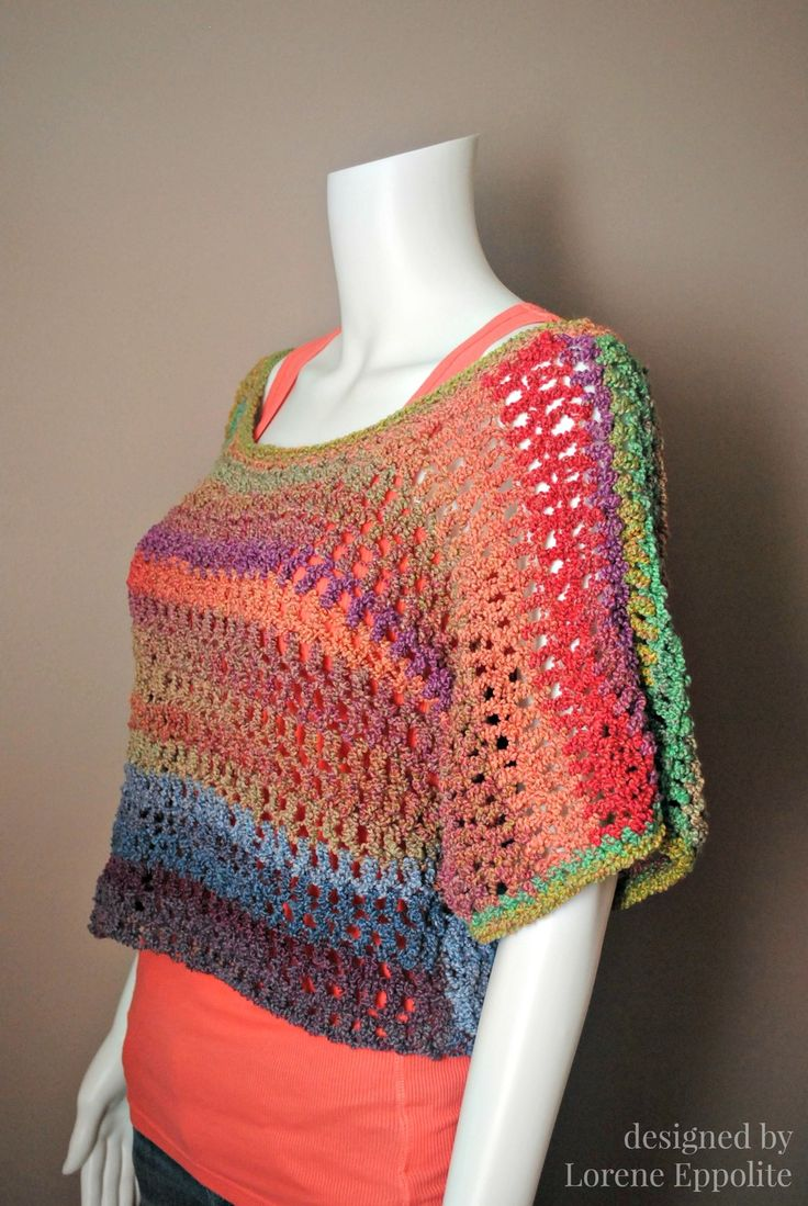 Textures Crochet Top Pattern ~ would be quite easy to make in whatever length you wanted.