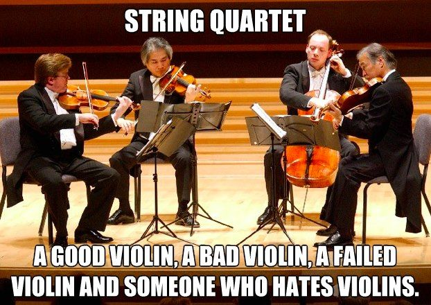 """I'm the """"someone who hates violins"""". I've been in multiple successful quartets, but this is still true."""