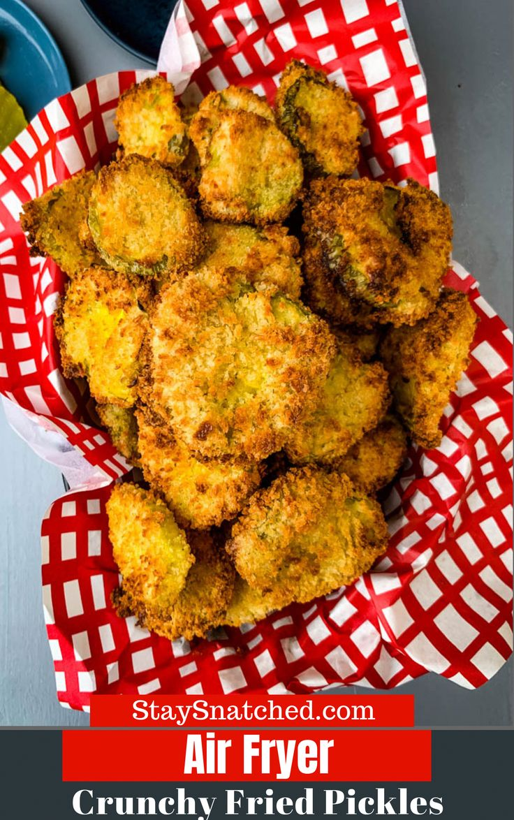 Easy, Air Fryer Crunchy Fried Pickles in 2020 Fried