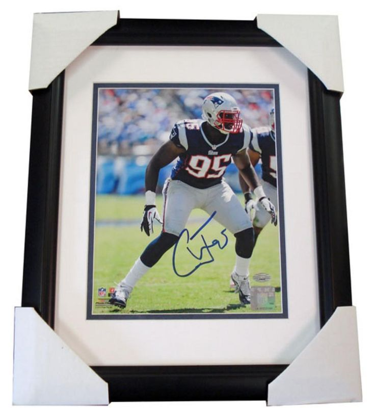Autographed Chandler Jones 8-by-10 Framed Photo