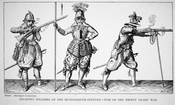 Infantry soldiers of the seventeenth century - time of the Thirty Years' War