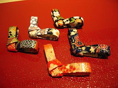 箸置き 和紙リボン  chopstick rest