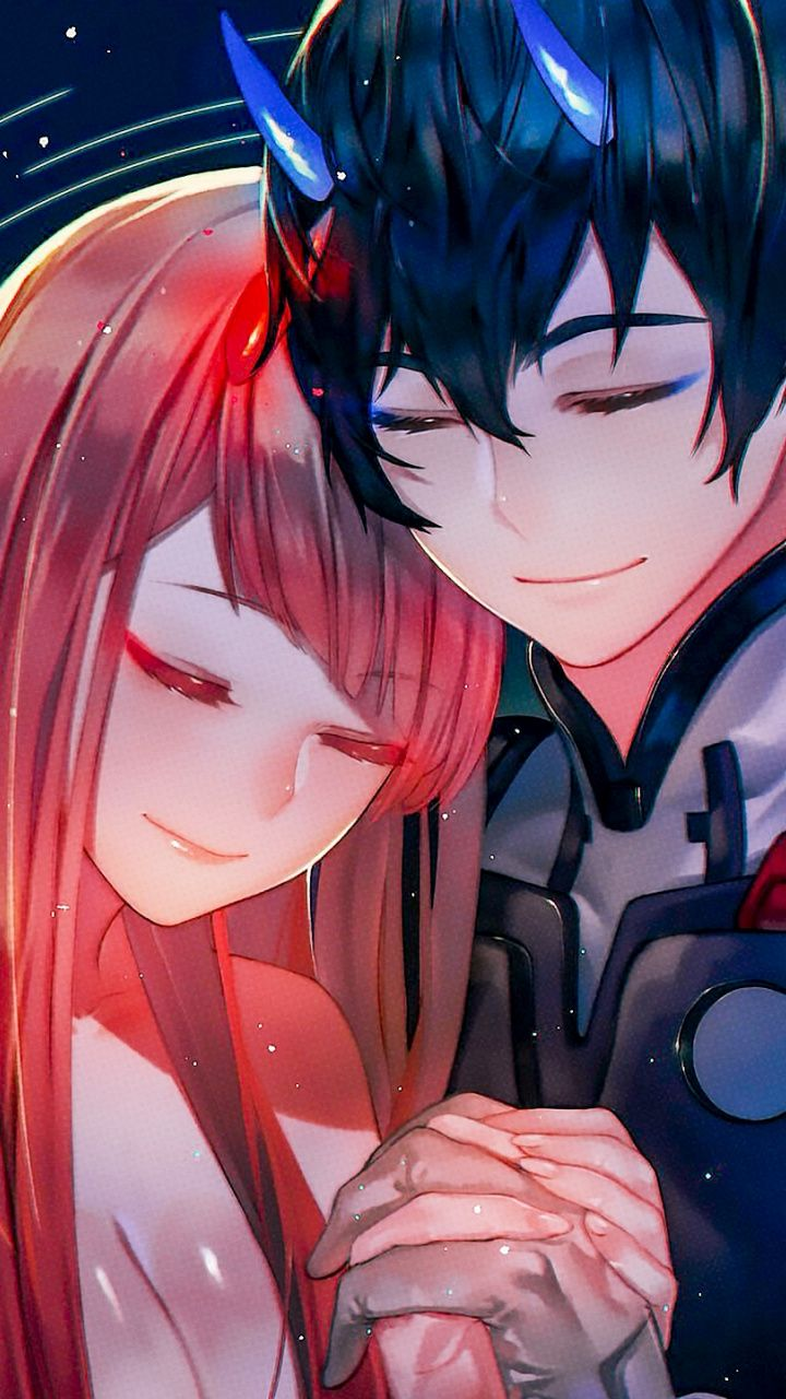 Hiro And Zero Two Hug Love Anime Artwork Wallpaper Darling In The Franxx Anime Wallpaper Aesthetic Anime
