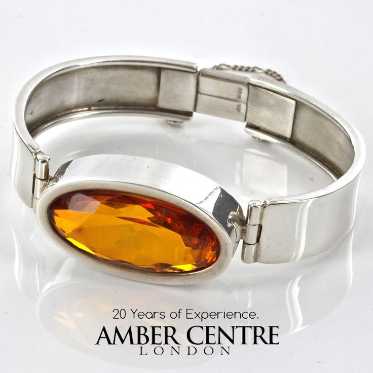 BALTIC COGNAC AMBER HANDMADE IN 925 STERLING SILVER RRP £650 BAN104 | eBay