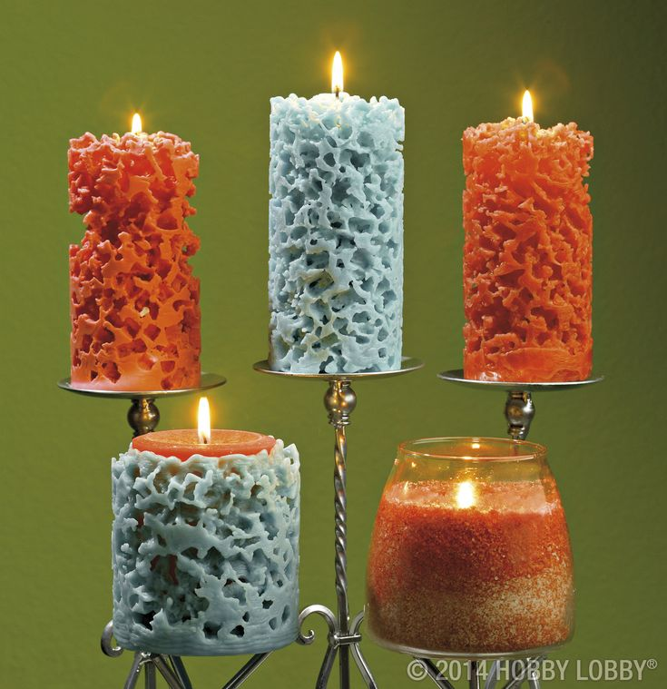 Magical And Mysterious These Unusual Pillar Candles Get Their Coral Like Appearance From A