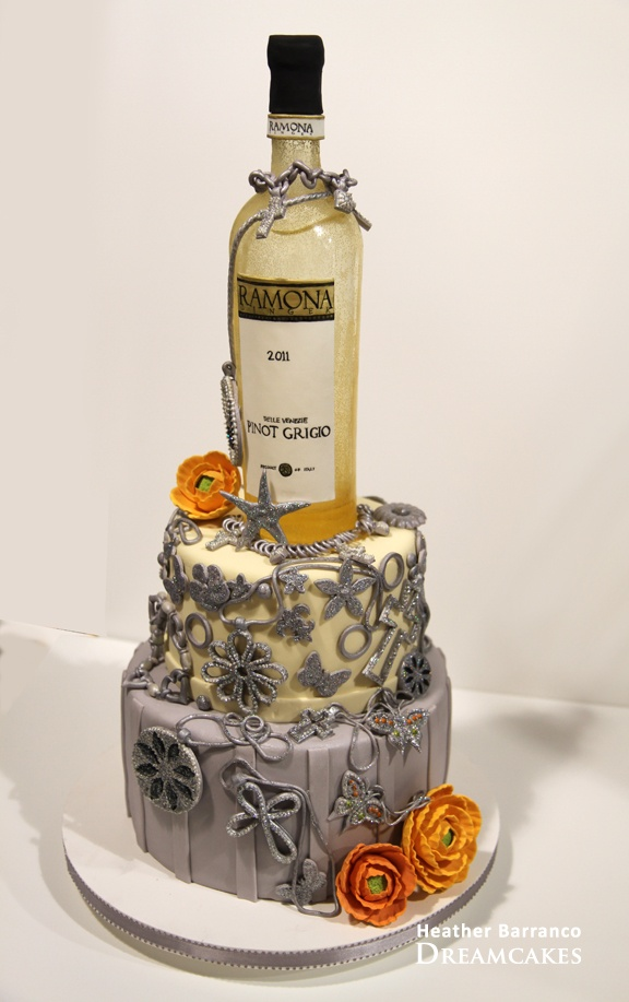Love The Sugar Bottle Idea For MIkes Next Cake With Whisky Tho