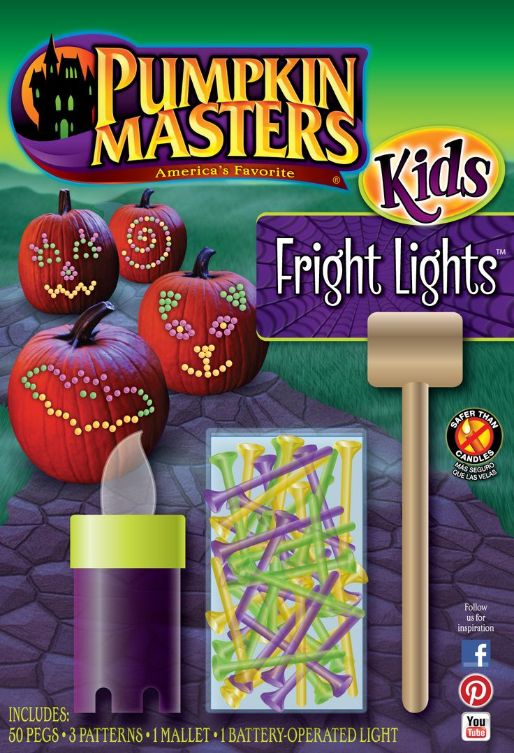 pumpkin carving tools for kids. what kid can resist the allure of a mallet and some lights? pumpkin masters kids carving tools for p
