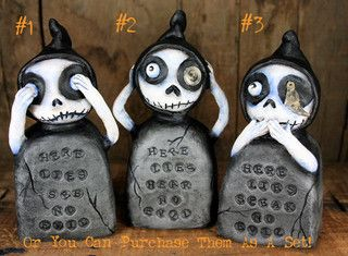 Hear no evil, speak no evil, see no evil skellys | by Michele Lynch