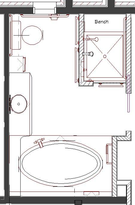 105 best salle de bain design bath bathroom images for Master bathroom floor plans shower only