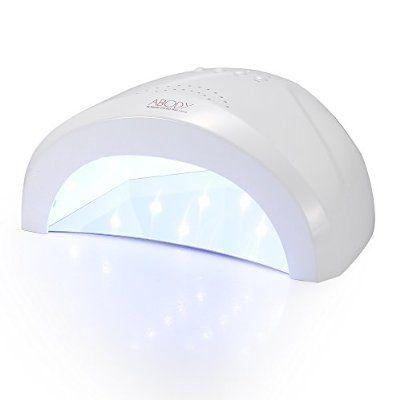Abody LED UV Lichthärtungsgerät Nageltrockener mit 3 Timer für Alle Nagel Gele 48/24W Weiß Licht