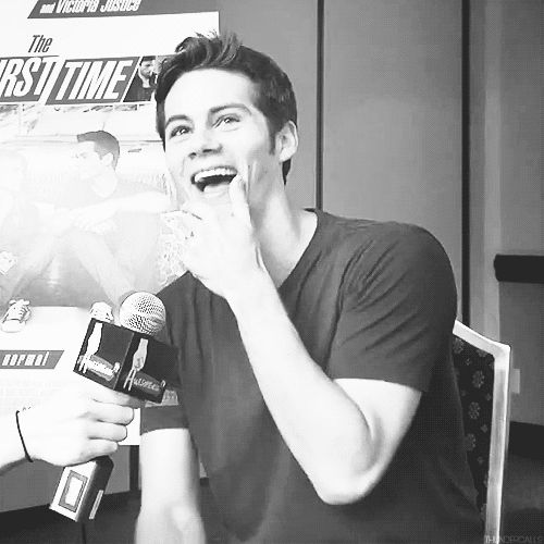"""Interview for """"The First Time"""" Dylan laugh awwwwww"""