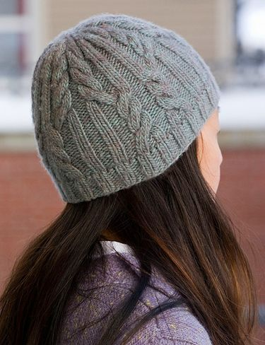 basic cable knit hat free pattern on Ravelry