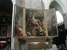 Cathédrale Notre-Dame d'Anvers  - L'Élévation de la croix, de Pierre Paul Rubens - Cathédrale Notre-Dame d'Anvers