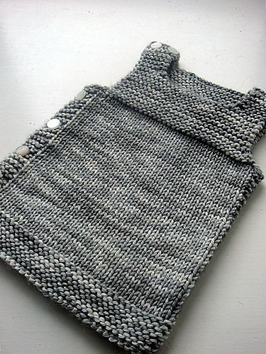 Pebble (Henry's Manly Cobblestone-Inspired Baby Vest) by Nikol Lohr. malabrigo Worsted, Pearl color.