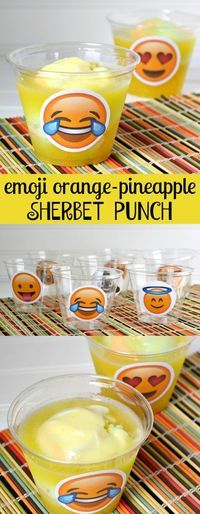 Emoji Orange Pineapple Sherbet Party Punch Recipe