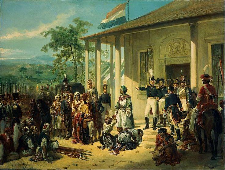 De gevangenneming van prins Diponegoro door generaal De Kock - Nicolaas Pieneman, 1830 (Rijksmusem)