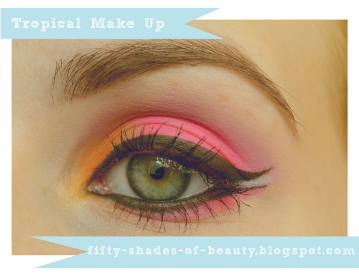 Tropical Make Up |  http://fifty-shades-of-beauty.blogspot.com