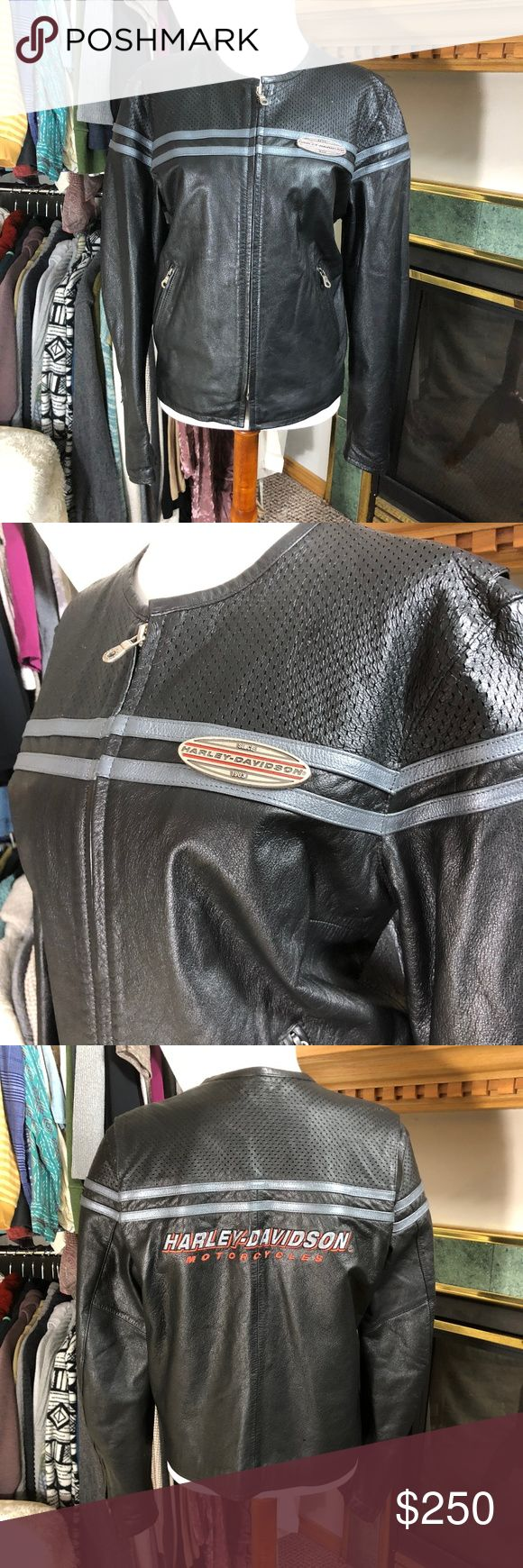 Harley Davidson Leather Jacket No signs of wear that I can see. Make an offer, ya never know! Thank you for your interest! No Trades, No Low Ballers, No Spamming, No Holds, No communications outside of Poshmark. Offers considered through offer button only. Mannequin is of standard size small. I do not supply garment measurements beyond that because I just don't have time! Thank you for your interest <3 Harley-Davidson Jackets & Coats