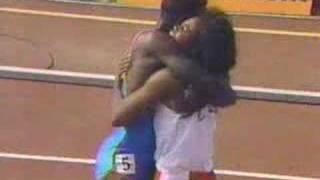 100m - Carl Lewis - 9.78s, via YouTube.