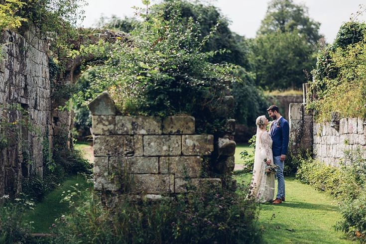 Anna & Jonathan had a simply gorgeousoutdoor wedding ceremony in the ruins of a 12th Century Cistercian Abbey overgrown with wildflowers & a tipi reception in the wilds of Yorkshire. We ha…