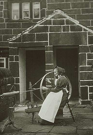 Before the mills Todmorden people often spun yarn and wove it in their own homes…
