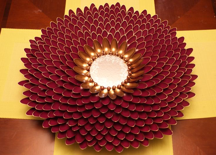 17 Best Images About Diy Spoon Sunburst Wall Art On