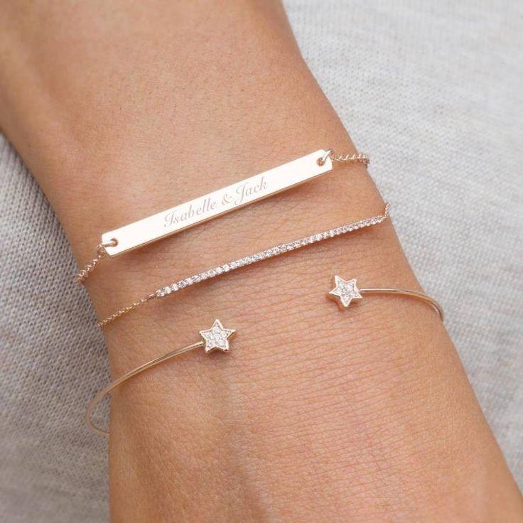 Perri Bar Personalised Bracelet Set by Bloom Boutique