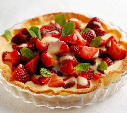 Tarte aux fraises et à la crème pâtissière - Envie de bien manger http://www.enviedebienmanger.fr/fiche-recette/recette-tarte-aux-fraises-et-a-la-creme-patissiere