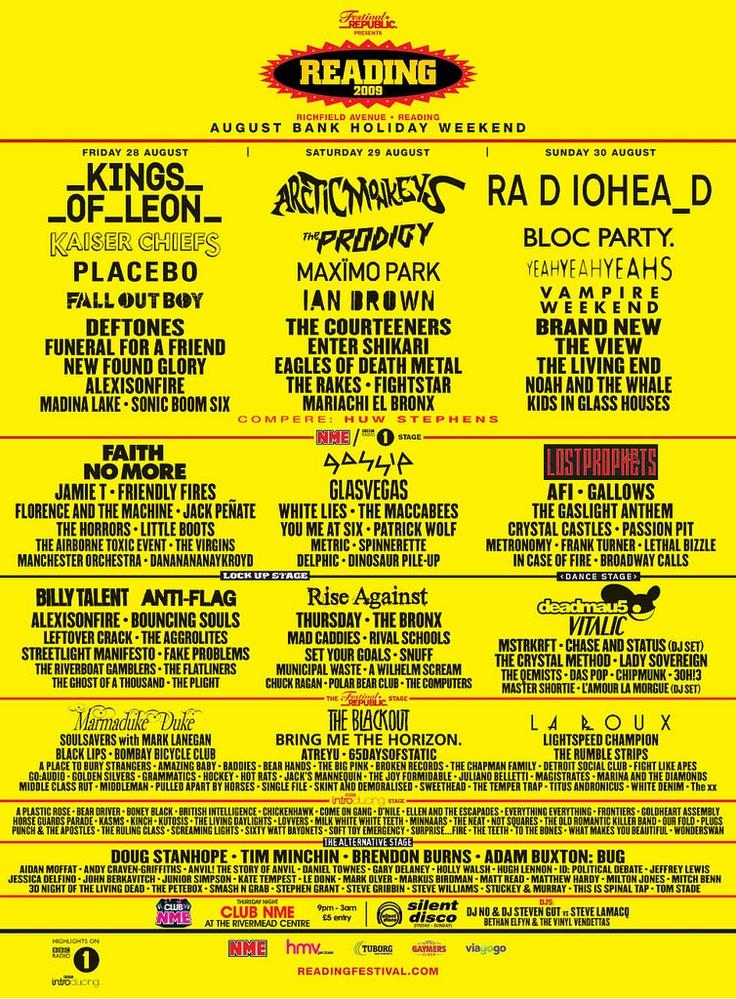 Reading Festival 2009, UK