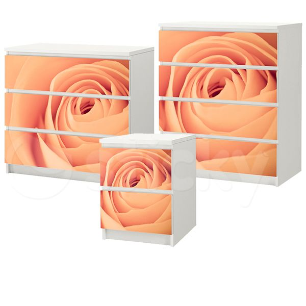 Furniture Sticker PEACH ROSE by Sticky!!!
