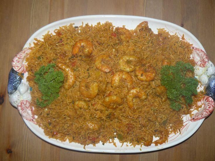 Gebakken rijst met oosterse garnalen