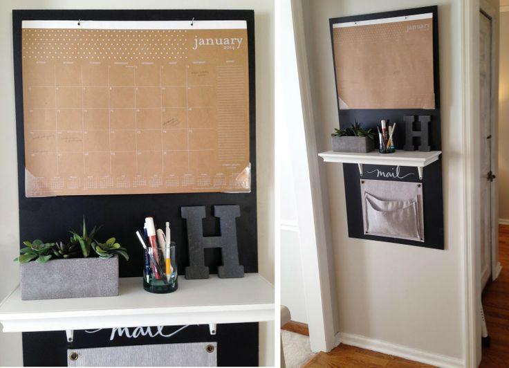 diy: kitchen calendar station