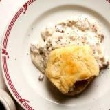 Sausages and Gravy with Stone-Ground Grits Recipe | SAVEUR