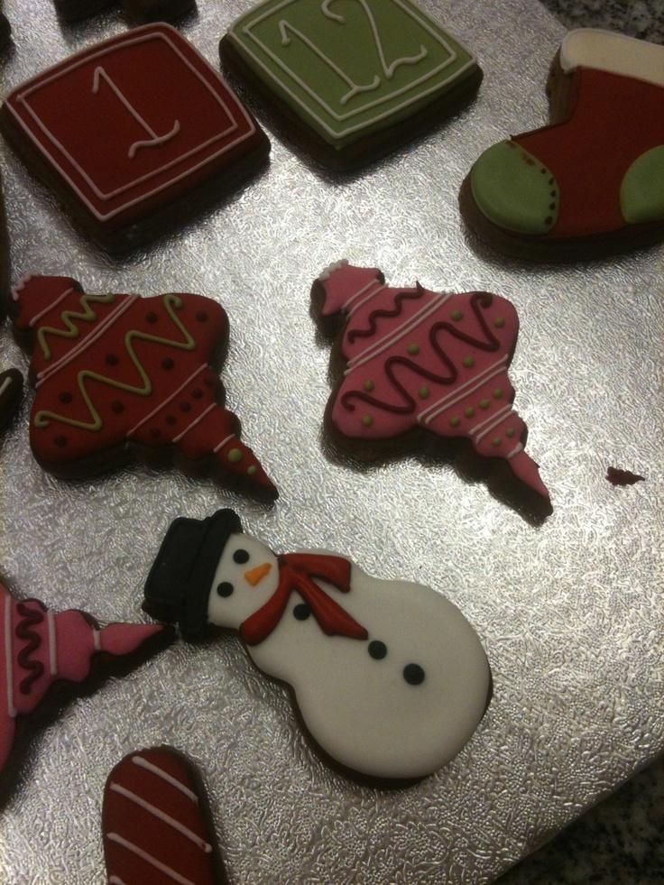 Le password dell'Avvento: i biscotti gingerbread decorati con la ghiaccia reale |