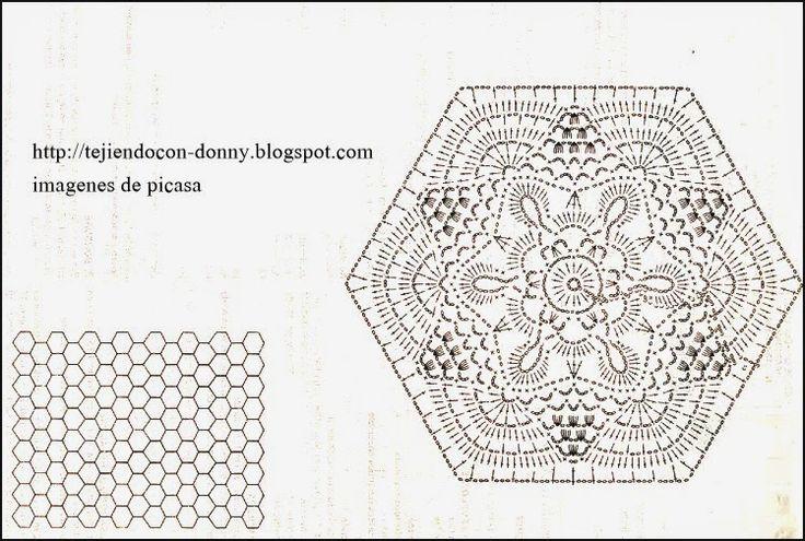 Graficos de colchas de crochet - Imagui