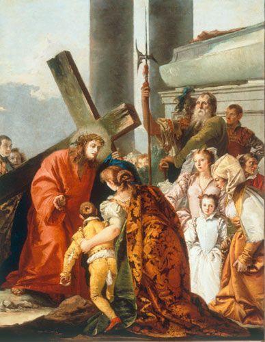 Cristo consuela a una mujer afligida autor Gioanni Domenico Tiepolo