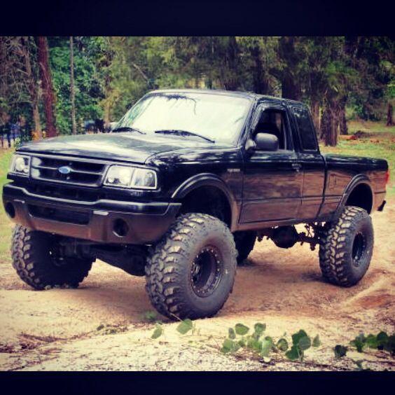 1995 ford ranger lifted black