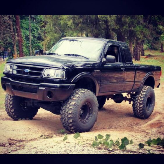1995 ford ranger lifted black