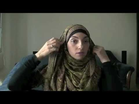 I like it with a few more folds on top, but very good tutorial--How to Wear Hijab Tutorial: Easy Khaleeji Hijab Style!