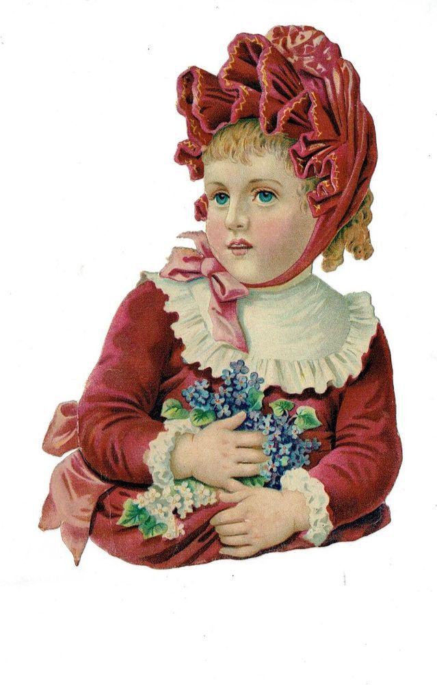 Un chromo - Découpis  - Portrait enfant - 16 cm x 11 cm
